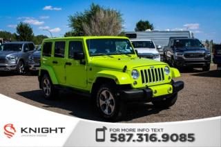 Used 2017 Jeep Wrangler Unlimited Sahara - Remote Start, Leather, NAV for sale in Medicine Hat, AB