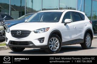 Used 2016 Mazda CX-5 GS Blanc , Navigation, GPS, Toit Ouvrant , camera recule, AWD for sale in Lachine, QC