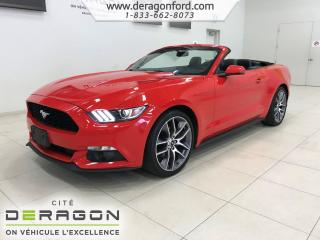 Used 2015 Ford Mustang PREMIUM ECOBOOST CONVERTIBLE AUTOMATIC NAV CAMERA PREMIUM ECOBOOST CONVERTIBLE AUTOMATIC NAV CAMERA for sale in Cowansville, QC