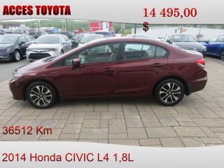 Used 2014 Honda Civic EX BAS KM for sale in Rouyn-Noranda, QC