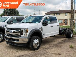 New 2019 Ford F-550 Super Duty DRW XLT 663A 4X4 Crew Chassis 6.7 V8 Diesel, Interior Hood Release, Power Steering, Trailer Brake Controller, Trailer Tow for sale in Edmonton, AB