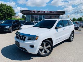 Used 2015 Jeep Grand Cherokee Overland 4WD|BLUETOOTH|BACKUP CAMERA|HEATED MIRRORS|HEATED LEATHER SEATS|NAVI|PANORAMIC ROOF|CERTIFIED for sale in Mississauga, ON