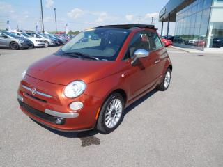 Used 2013 Fiat 500 C Lounge,decapotable,m for sale in Mirabel, QC