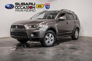 Used 2011 Mitsubishi Outlander ES BLUETOOTH+VITRE ÉLECTRIQUE+ MIROIRS CHAUFFANTS for sale in Boisbriand, QC