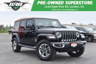 Used 2019 Jeep Wrangler Unlimited Sahara 4x4 - Demo, Blindspot, Dual Top for sale in London, ON