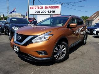 Used 2016 Nissan Murano SL TECH AWD/NAVIGATION/CAMERA/LEATHER/SUNROOF for sale in Mississauga, ON