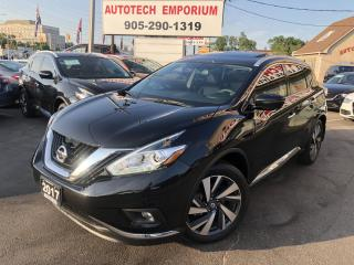 Used 2017 Nissan Murano SL PLATINUM AWD/NAVIGATION/CAMERA/LEATHER/SUNROOF for sale in Mississauga, ON