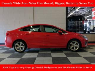 Used 2019 Chevrolet Cruze Premier, Leather, Back Up Camera, Power Seat for sale in Edmonton, AB