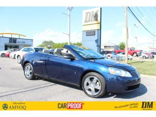 Used 2008 Pontiac G6 GT CONVERTIBLE TOIT RIGIDE DÉMARREUR for sale in Salaberry-de-Valleyfield, QC
