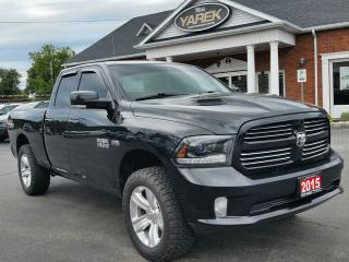 Used 2015 RAM 1500 Sport 4x4, Sunroof, Bluetooth, Remote Start, Power Seat, Back Up Cam for sale in Paris, ON