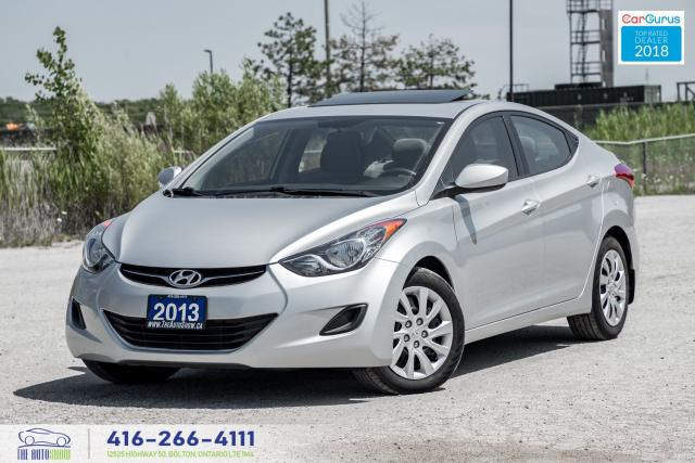 2013 Hyundai Elantra 1Owner Sunroof CleanCarfax Certified Financing 40k