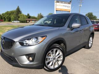 Used 2015 Mazda CX-5 GT AWD with NAV, Leather, Sunroof, Heated Seats, BackupCam, Bluetooth, Full Pwr Equipment and Alloys wi for sale in Kemptville, ON