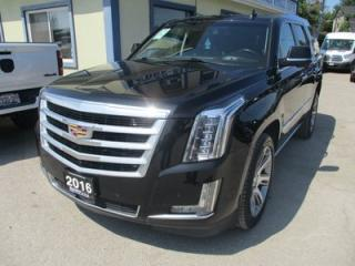 Used 2016 Cadillac Escalade LOADED PREMIUM EDITION 7 PASSENGER 6.2L - V8.. 4X4.. CAPTAINS.. 3RD ROW.. NAVIGATION.. DVD.. LEATHER.. SUNROOF.. FOLDING REAR SEATS.. for sale in Bradford, ON