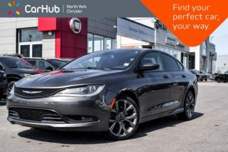 Used 2015 Chrysler 200 S SiriusXM|Bluetooth|BackUpCam|KeylessGo|RemoteStart|HeatedSeats| for sale in Thornhill, ON