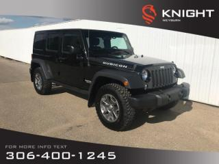 Used 2017 Jeep Wrangler Unlimited Rubicon | Heated Seats | Bluetooth | Navigation for sale in Weyburn, SK