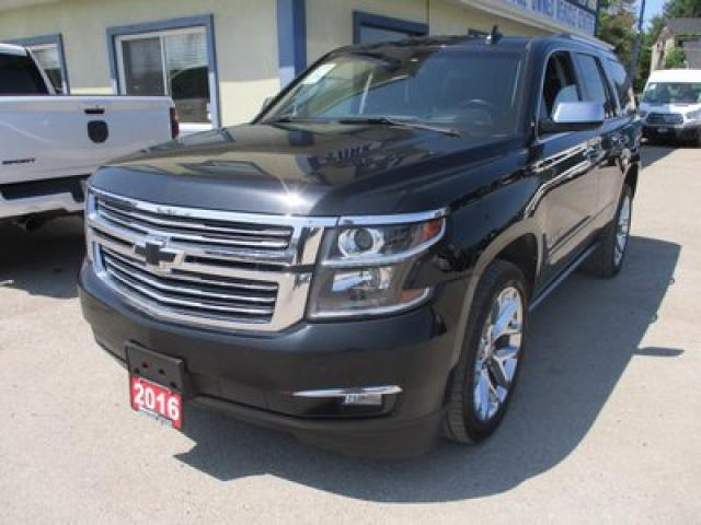 2016 Chevrolet Tahoe LOADED LTZ MODEL 7 PASSENGER 5.3L - V8.. 4X4.. CAPTAINS.. 3RD ROW.. NAVIGATION.. DVD.. LEATHER.. SUNROOF.. FOLDING REAR SEATS..