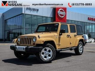 Used 2013 Jeep Wrangler Unlimited SAHARA  - $241 B/W for sale in Ottawa, ON