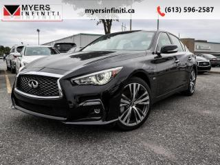 Used 2018 Infiniti Q50 3.0t Sport AWD  - Certified for sale in Ottawa, ON