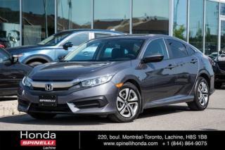 Used 2016 Honda Civic LX AUTO CRUISE BLUETOOTH AUTO AC CRUISE BLUETOOTH for sale in Lachine, QC