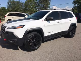 Used 2016 Jeep Cherokee TRAILHAWK, V6, 4X4, LOCAL TRADE for sale in Mitchell, ON