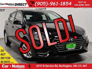 Used 2019 Hyundai Accent 5-Door Preferred  APPLE CARPLAY & ANDROID AUTO  for sale in Burlington, ON