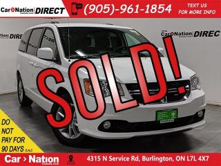 Used 2019 Dodge Grand Caravan Premium Plus| DVD| NAVI| LEATHER-TRIMMED SEATS| for sale in Burlington, ON