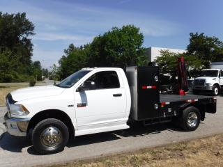 Used 2012 Dodge Ram 3500 Regular Cab 4WD Dually 11 foot flat deck with crane for sale in Burnaby, BC