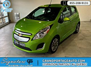 Used 2016 Chevrolet Spark EV **RABAIS GOUV INCLUS** for sale in Rivière-Du-Loup, QC