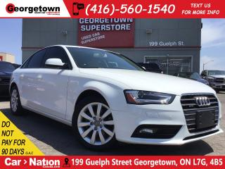 Used 2014 Audi A4 2.0 Komfort|ONLY 34,285KMS|LEATHER|SUNROOF| TINTS for sale in Georgetown, ON