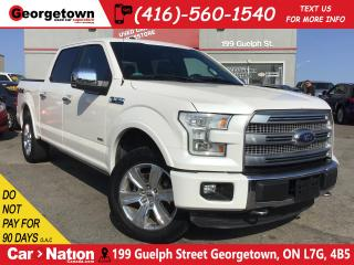 Used 2016 Ford F-150 Platinum | CLEAN CARFAX|PANO|NAVI|BU CAM|TOW PKG for sale in Georgetown, ON