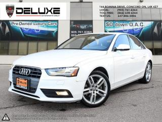 Used 2013 Audi A4 2.0T Premium AUDI A4 PREMIUM 2.0L TFSI turbocharged I4 engine,Navigation Quattro AWD $0 Down OAC for sale in Concord, ON