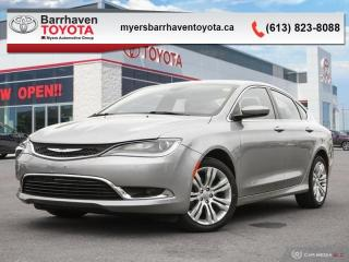 Used 2015 Chrysler 200 LIMITED  - Leather Seats -  Bluetooth - $100 B/W for sale in Ottawa, ON
