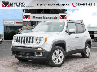 Used 2018 Jeep Renegade Limited  - Leather Seats - $192 B/W for sale in Ottawa, ON