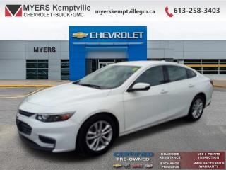 Used 2018 Chevrolet Malibu LT  - Certified - Bluetooth for sale in Ottawa, ON