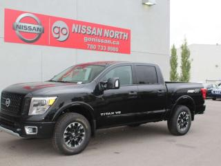New 2019 Nissan Titan PRO-4X 4x4 Crew Cab / NAV / PUSH BUTTON / BACKUP CAM / PARKING SENSORS for sale in Edmonton, AB