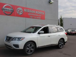 Used 2019 Nissan Pathfinder Platinum/4WD/COOLED SEATS/BIRDS EYE CAM/PANO ROOF for sale in Edmonton, AB
