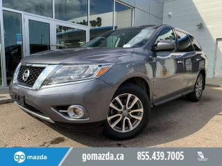Used 2015 Nissan Pathfinder SV AWD DUAL CLIMATE EASY THIRD ROW ACCESS LOW KM for sale in Edmonton, AB