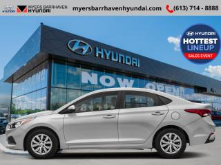 New 2019 Hyundai Accent Preferred MT  -  Power Windows - $71.27 /Wk for sale in Nepean, ON