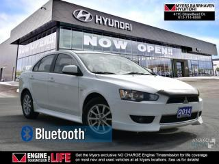 Used 2014 Mitsubishi Lancer SE  - Bluetooth - $52.30 /Wk for sale in Ottawa, ON