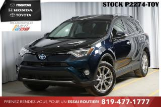 Used 2017 Toyota RAV4 HYBRID* LIMITED* CUIR* NAV* for sale in Drummondville, QC