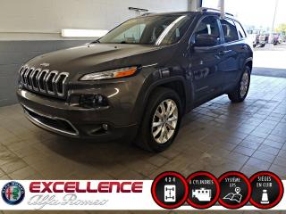 Used 2016 Jeep Cherokee LIMITED*4X4/V6/CUIR/NAV/HITCH* for sale in Laval, QC