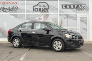 Used 2012 Chevrolet Sonic LT ***RAPPORT CARPROOF DISPONIBLE*** for sale in Québec, QC