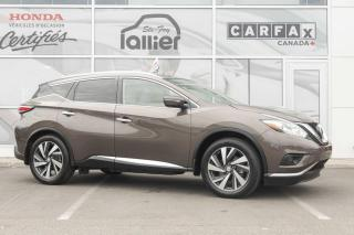 Used 2015 Nissan Murano PLATINE AWD ***JAMAIS ACCIDENTE*** for sale in Québec, QC