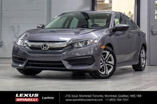 Used 2018 Honda Civic LX; AUTO CAMERA SIEGES CHAUFFANT CARPLAY / ANDROID BAS KILOMÉTRAGE - CAMÉRA RECUL - SIÈGES CHAUFFANT - BLUETOOTH - COMPATIBILITÉ CARPLAY / ANDROID for sale in Lachine, QC