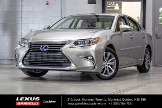 Used 2018 Lexus ES 300 HYBRIDE TOURING; CUIR TOIT GPS ANGLES MORTS MAGS TOIT-OUVRANT - NAVIGATION - VOLANT CHAUFFANT - MONITEUR ANGLES MORTS - SONAR DE STATIONNEMENT for sale in Lachine, QC