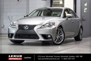 Used 2016 Lexus IS 300 LUXURY AWD; CUIR TOIT GPS ANGLES MORT MAGS NAVIGATION - MONITEUR ANGLES MORTS - SIÈGES CHAUFFANT/VENTILÉ - CAMERA DE RECUL - VOLANT CHAUFFANT for sale in Lachine, QC