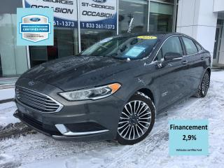 Used 2018 Ford Fusion Hybrid SE LUXURY CUIR GPS CERTIFIÉ FORD TAUX 2. for sale in St-Georges, QC