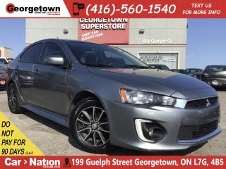 Used 2017 Mitsubishi Lancer Sportback SE LTD | ONE OWNER | RARE | TINTS | ROOF for sale in Georgetown, ON