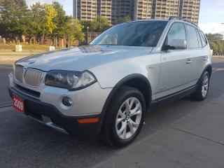 Used 2009 BMW X3 30i- LEATHER-PANORAMA ROOF-BLUETOOTH-ALLOYS-POWER for sale in Scarborough, ON