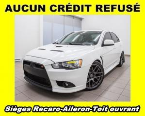 Used 2014 Mitsubishi Lancer RALLIART AWD AILERON TOIT OUVRANT *SIÈGES RECARO* for sale in St-Jérôme, QC